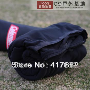 Fleece sleeping bag ultra-thin ultra-light envelope style fleece sleeping bag outdoor sleeping bag blanket