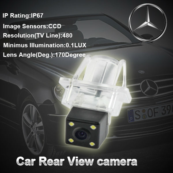 CCD chip HD Car rear view camera backup camera for Mercedes Benz with 170 degree view angle(China (Mainland))