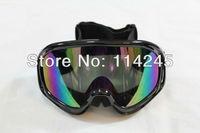 Ski Snowmobile Motorcycle Off-Road Goggle Eyewear Black Frame Color Lens T815-3