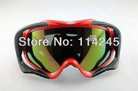 ATV Ski Motorcycle Off-Road Goggle Eyewear Red Frame Color Lens T815-18
