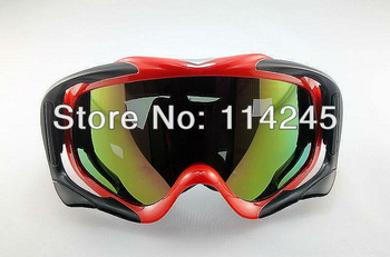 ATV Ski Motorcycle Off-Road Goggle Eyewear Red Frame Color Lens T815-18