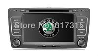 Auto Radio Car DVD Player for Skoda Octavia 2013 with GPS Navigation Bluetooth RDS AUX USB SWC TV Map Stereo Audio Video Sat Nav