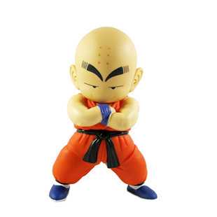Free Shipping Japanese Anime Dragon Ball Z  Krillin PVC Action Figure Toy 17cm DBFG033