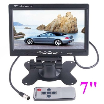 7 inch TFT Color LCD 2 Video Input Car RearView Headrest Monitor DVD VCR,free shipping drop shipping wholesale