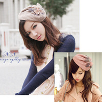 2014 new women's winter knitting wool feather bowknot hairbands hat hair accessory free shipping!