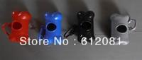Free shipping dog pet Bone shape dispenser poo bag holder mixed colors 50pcs/lot