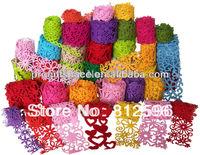Free Shipping 10pcs 2015 New Fashion Heat Embossing Polyester Felt Ribbon European Russian Wedding Decoration Scrapbooking DIY