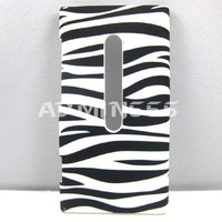 New Zebra Black and White Snap On Hard Plastic Case Cover Skin For Nokia Lumia 800 Case