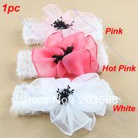 3pcs/lot Lace Match Big Flower Elastic Soft Accessories Newborn Baby Infant Toddler Kid Girl Headband