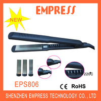Newest Design Hot Selling LED display interchangeable hair straightener