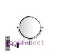 NEW Beauty 8 inch bathroom wall mounted 3X magnifying brass cosmetic makeup mirror chrome finish free shipping!
