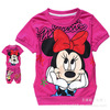 wholesale Free shipping 2013 Summer 6set/lot Children Minnie clothing sets baby girl Cartoon clothing suitsT-shirt with  pants