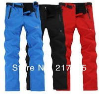 Free Shipping autumn winter new Outdoor women waterproof wind charge trousers fashion fleeces soft shell Ski pants