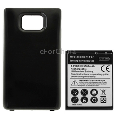 Extended 3500mAh High Capacity Mobile Phone Battery Cover Back Door for Samsung i9100 Galaxy S2 Europe