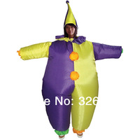 Free Shipping clown Inflatable Costume / Adult Fancy Dress Suit / carnival party cloth halloween costume for adult