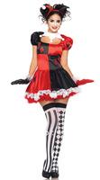 Free shipping ML5251 Promotion Halloween Female Harley Quinn Costume