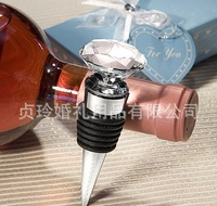 Free Shipping By DHL ,50Pcs/Lot ,Reasonable Price ,High Quality,Love The Crystal Wine Stopper For Wedding Gift