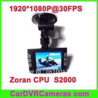 Car DVR S2000, full HD 1920*1080@30FPS, Zoran CPU, HDMI,motion detect, free shipping.