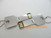 10pcs Promotional Gift Metal Key USB Flash Drive Real 2GB 4GB 8GB 16GB 32GB Silver Key USB pen drive Metal USB Free Shipping