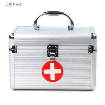 Must-Have Professional Portable Home&Travelling First Aid Emergency Medical Health Kit Medicine Storage Box Case w/ Trays & Lock