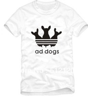 Free Shipping 2014 new sale fake ad t-shirt  ad dogs t shirt funny shirt funny printing Tees 100% cotton 6 colors S-XXXL