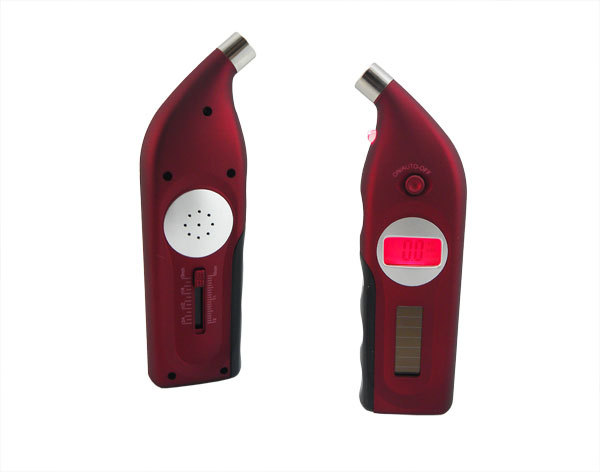 New Solar Power Digital Tire Gauge Car Air Pressure with LCD Light Red K0079C Alishow(China (Mainland))