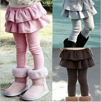 2015 autumn girls' leggings Children's winter cotton pants kids baby spring warm trousers