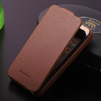 10pcs/lot Wholesale Ultrathin Flip Real Leather Case For iphone 4 4s Top Quality With Retail Package Free Shipping