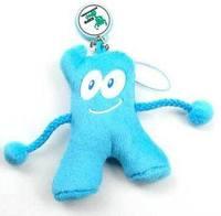 Freeshipping Shanghai World EXPO gift present souvenir HaiBao Hypon mascot sweet cute mobile phone  pendant accessories P11479
