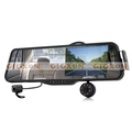 Car Rearview Mirror with Front and Rearview Camera