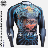2013 Free Shipping Fashion Active Wholesale/ Retail FIXGEAR CFL-74 Compression shirt design base layer top gym training fitness
