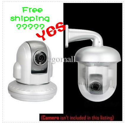 Outdoor Waterproof Dome Housing Enclosure for Security CCTV IP Pan Tilt Camera H300(China (Mainland))