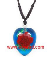 real mini rose flower in resin necklace jewelry,rose pendant,valentine day gift,high quality Free Shipping