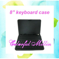 "8"" USB Keyboard Leather Case Stand For Ainol Novo 8 Discovery Russian/English/Turkish/French etc FreeShipping"