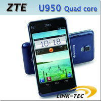 ZTE U950 Cheapest Quad Core Smart Phone 4.3 Inch Capacitive Screen Android 4.0 1GB RAM 4GB ROM GPS  WIFI One SIM Card Unlocked