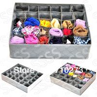 30 CellS Bamboo Charcoal Underwear Ties neckties bra Socks Storage Box Drawer Closet Organizer box case,just 1 pcs free shipping