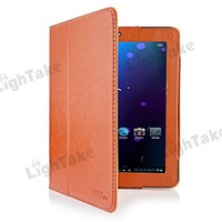 Brand New PU Leather Case for ONDA V972 Quad Core Tablet PC Brown/Black