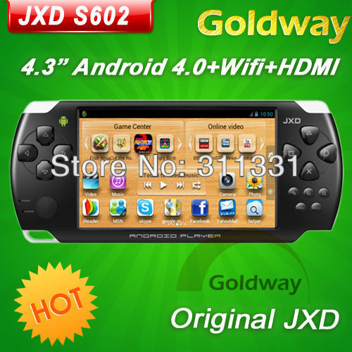 original JXD S602 4.3inch Android4.0 OTG HDMI Game Console Almighty WiFi Direct Multiplayer Fight Games(Hong Kong)