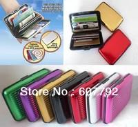 Free Shipping (300pcs/lot) Aluminum Wallet As Seen On TV Aluma Wallet Credit Card Holder RFID Blocking--8Colors