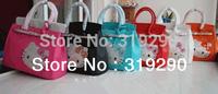 Free shipping Fashion Designed Sweet Hello Kitty Head Crystal Rhinestone Women Handbag Luxury Customized Evening Bags