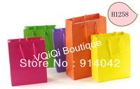 H1258-Wholesale Paper Bags/ Gift Bag Shopping Bag Customized Sizes MOQ 1000PCS Environmental Reticule Paper Gift Bags