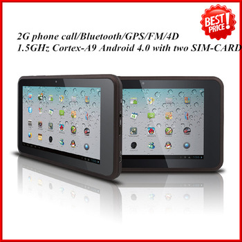 7inch android tablet pc MTK 6575 1.5Ghz/4GB Bluetooth HDMI GPS Dual SIM FM with promotion price