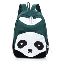 Cartoon Backpack casual canvas kids / girl / boys   student school bags 7 Color for your choice