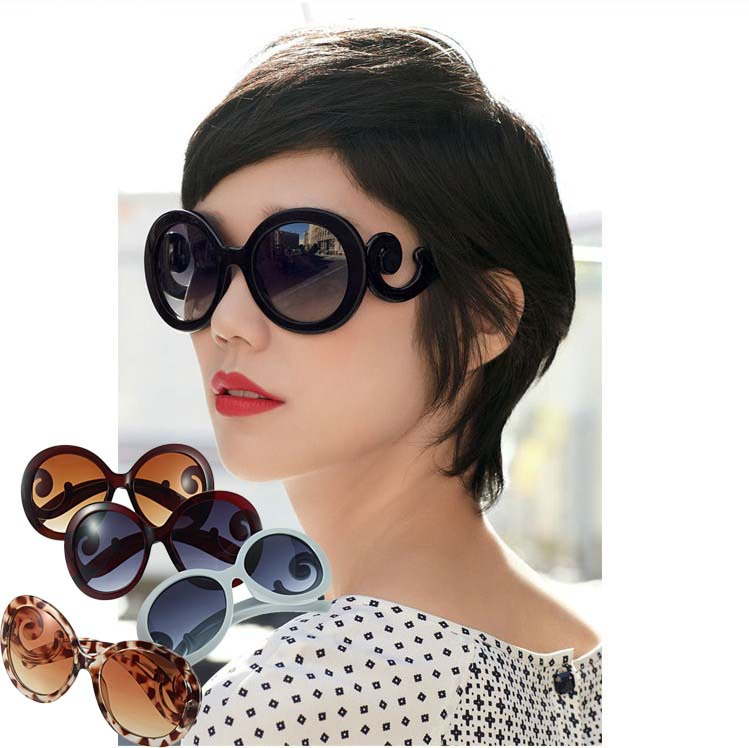 1pcs New arrival fashionable Retro Inspired Round women's Sunglasses Worldwide FreeShipping(China (Mainland))