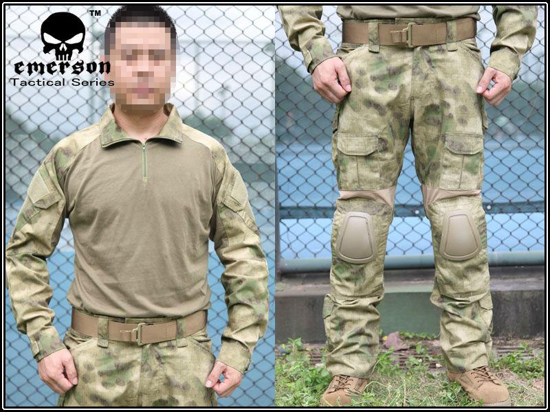 ... uniform shirt & Pants & knee pads Military Army uniform MultiCam suit