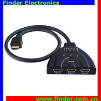 3x1 HDMI Switch with Cable, 3 Port HDMI Switcher, No need Power