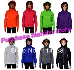 Free shipping Cheap Lulu lemon Scuba Hoodie Wholesale lululemon Yoga clothing Size 2 4 6 8 1012 available(China (Mainland))