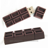 4GB 8GB 16GB 32GB Full Capacity Cute Chocolate Shape USB 2.0 Flash Drive pendrive thumb Car Key Memory Card Pen