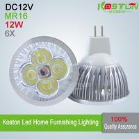 6X High Power MR16 4X3W LED Lamp DC12V  CE CREE  LED Bulb lamps Light  Spotlight Downlight GU5.3/GU10/E27