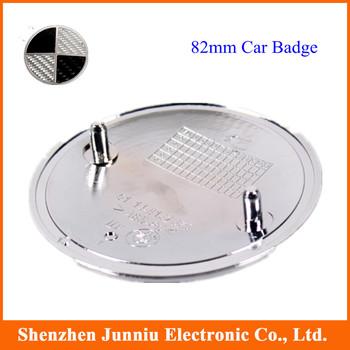 50 Pcs/lot Real Carbon Fiber  82mm Car Auto Logo Emblem Badge Grade A DHL EMS Free Shipping